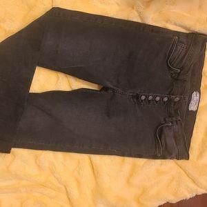 Free People Faded Black Skinny Jean Size 29